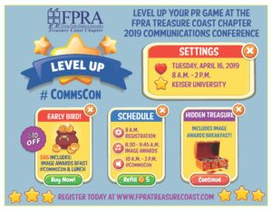 LEVEL UP YOUR PR GAME Communications Conference & Image Awards 2019 #CommsCons
